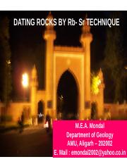 dating rock by Rb-Sr technique.ppt