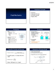 KIN 330 L08 - Fluid Mechanics Handout