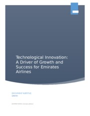 Waleed Technological Innovation in Avaiation Industry - The Case of Emirates Airlines