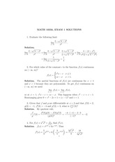 MATH 10550 Fall 2007 Exam 1 Solutions