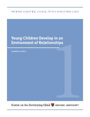 Center for the Developing Child Working Paper 1