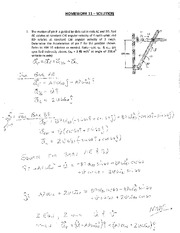 MECH 102 Home Work #11 Student Solutions  2012