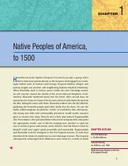 01 - Native Peoples of America, to 1500