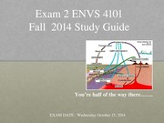 Study Guide Exam #2 Fall 2014