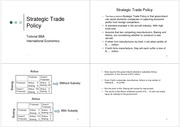 Strategic Trade Policy V.Tutees