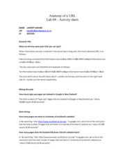 INFOSYS 727 Lab 04 - Anatomy of a URL (Activity Sheet)