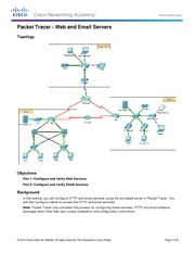 10.2.1.8 Packet Tracer - Web and Email Instructions
