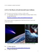 LCP 11  ASTEROID EARTH COLLISIONS.doc