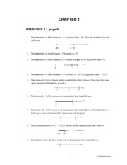 Chapter 1 Exercise Solutions
