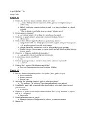 Test 2 Study Guide