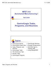 11 - CL Tasks, Programs, Routines - Fall 09