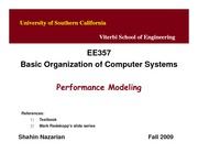 Unit17-PerformanceModeling-EE357-Nazarian-Fall09