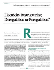 borenstein,_bushnell_2002_electricity_restructuring_deregulation_or_reregulation