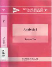 (Texts and Readings in Mathematics volumes 37 and 38) Terence Tao-Analysis (2 volume set) (Texts and