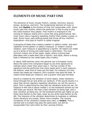 Elements of Music Part One Transcript