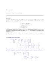ECON 401 Assignment 3 Solutions