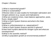 2015 Env. Geology Exam 1 Review Questions-3