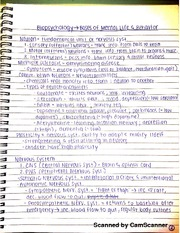 biopsychology notes Biopsychology chapter notes general layout of the nervous system central nervous system (cns) the division of the nervous system located within the skull (brain.
