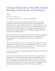Closing Statement at the 46th Annual Meeting of the Board of Governors.docx