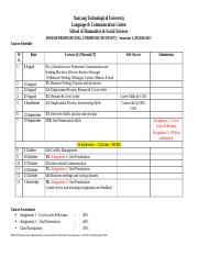 Course Schedule Part-Time Sem 1 AY 1617