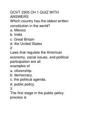GOVT 2305 CH 1 QUIZ WITH ANSWERS.docx