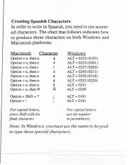 Creating Spanish Characters - Tildes etc