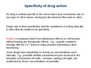Lecture-13 Drug Specificity