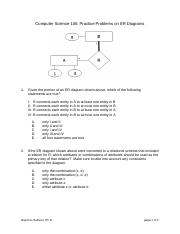 er diagram practice problems with solutions pdf