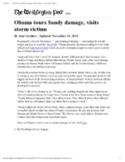 11-15-12 WP Obama tours Sandy damage, visits storm victims