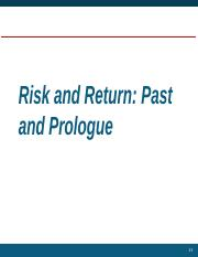 Introduction to Risk and Return (Lesson 23-Sep 2016)(1).pptx