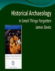 12. Intro to Historical Archaeology