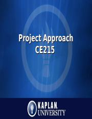 CE215_Unit4_ProjectApproach