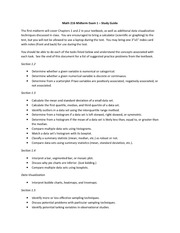 Math 216_Study Guide on the Midterm Exam 1