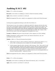 Auditing II ACC 492.docx