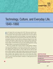11 - Technology, Culture, and Everyday Life, 1840-1860