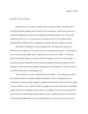 MHS english letter