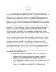 World History (The French Revolution) Research Paper