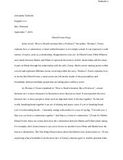 ethan frome how to literature like a professor kiara kishfy  4 pages ethan frome essay