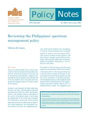 Reviewing the Philippines' spectrum management policy
