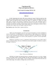 Experiment 402 - Plane and Spherical Mirrors.docx