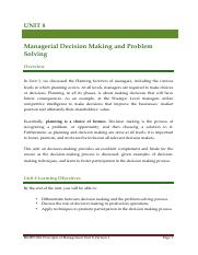 Unit 8 Managerial Decision Making and Problem Solving.pdf