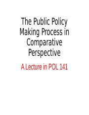 POL 141 Policy Making Nov  2015.ppt
