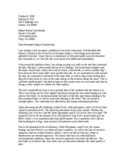 water quality letter to mayor bio