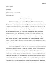 Beowulf- A Study of Courage (Final)