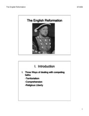 English Reformation slides