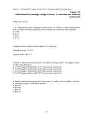 Chap011-Multinational Accounting Foreign Currency Transactions and Financial Instruments