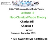 MGMT389_Summer2015_Lectures_Lecture_4__Neo_classical_theory