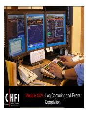 CHFI v4 Module 25 Log Capturing and Event Correlation