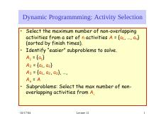 lecture 11 on Analysis of Algorithms