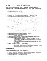 MD4 Argument Review Sheet for the Final Exam